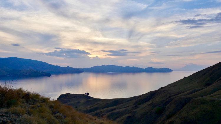 Enjoying the beautiful sunset from GIli Lawa Darat