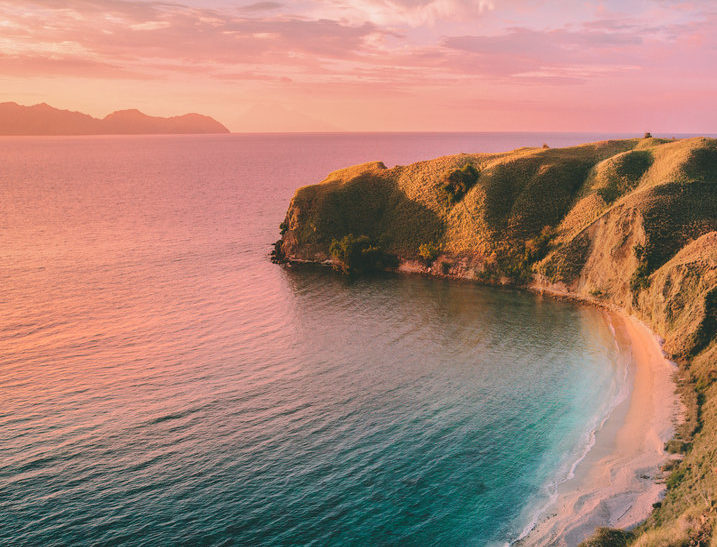 An amazing view of sunset from Komodo Island