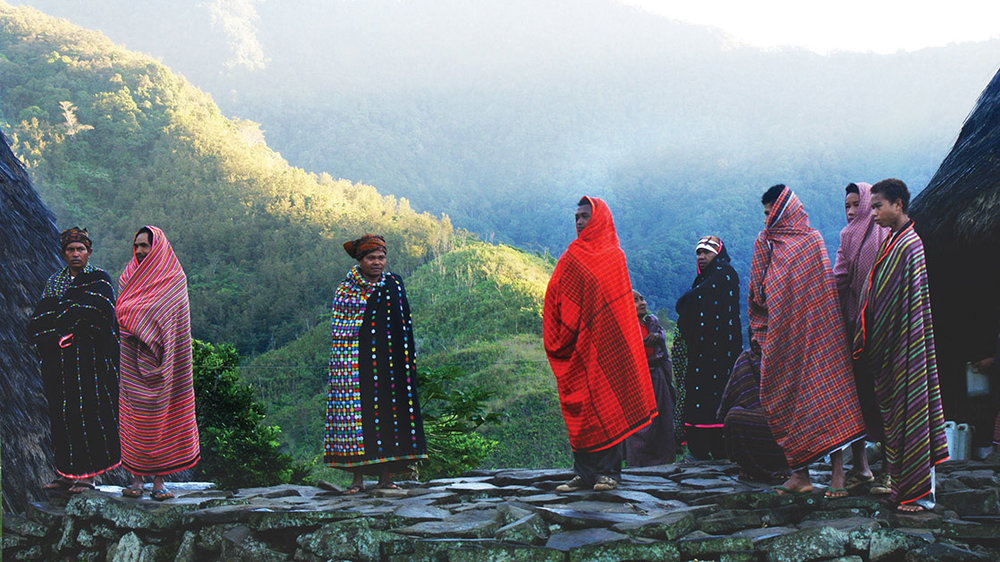 Native women from Wae Rebo village is wearing their traditional clothing
