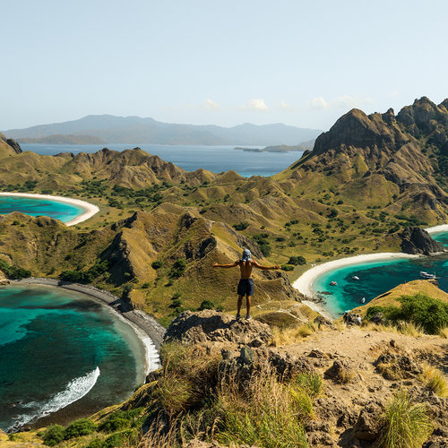 The landscape view of Padar Island