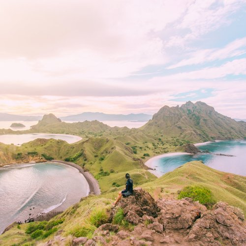 Morning view from Padar Island hills