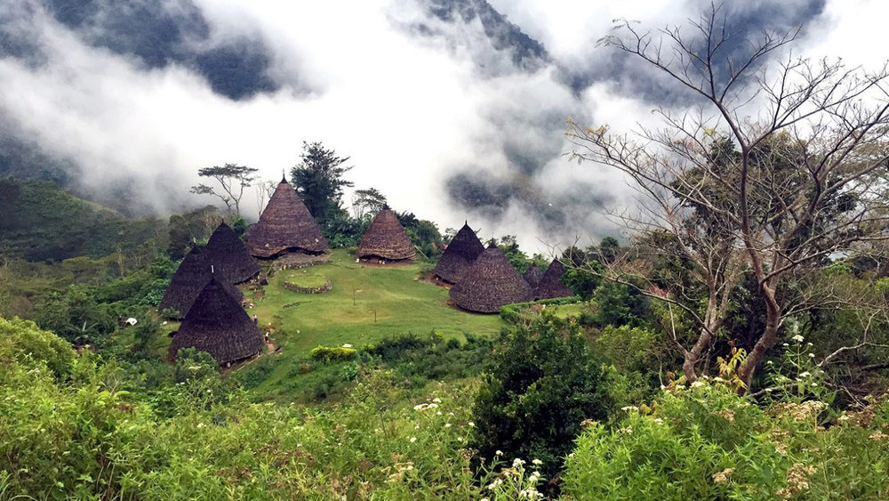 Located high in the mountain, Wae Rebo village is often have foggy weather