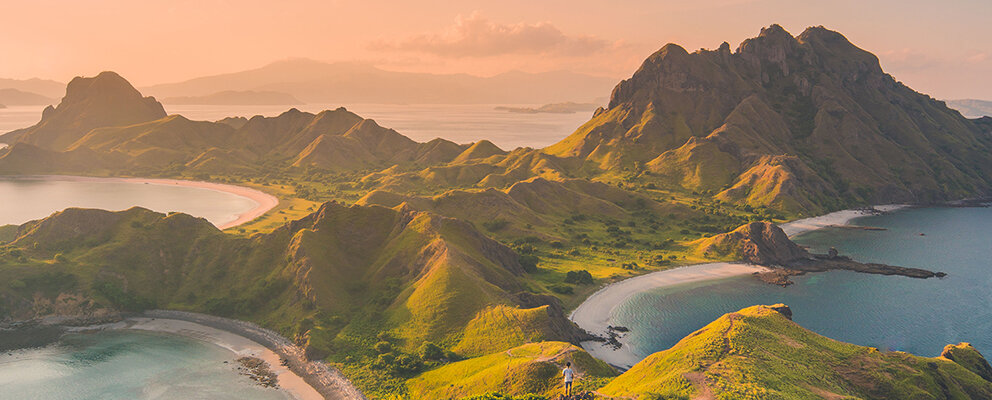 An evening scenery from padar island