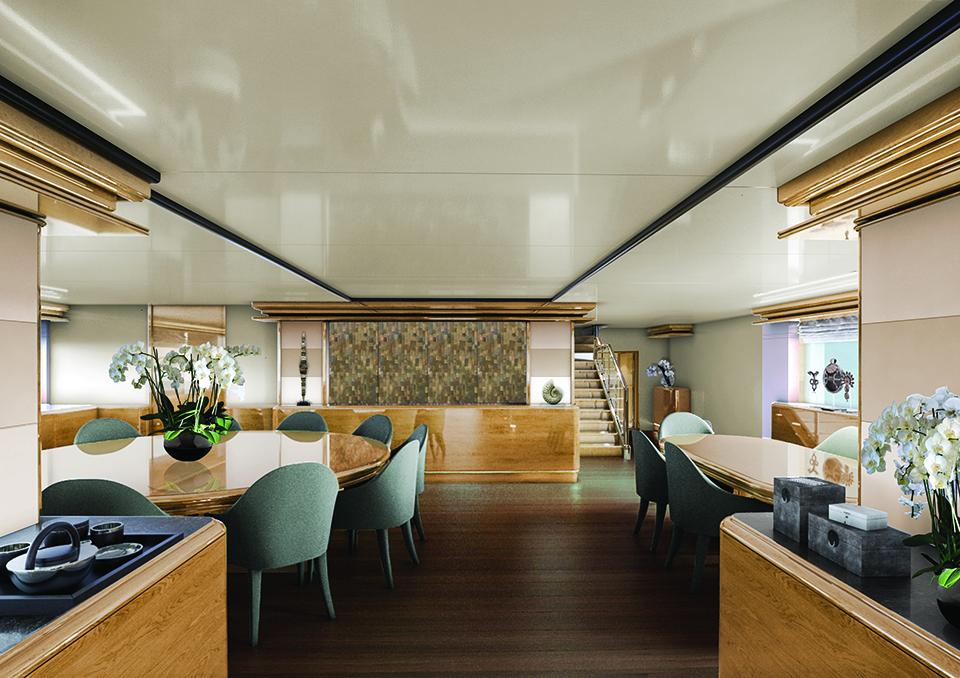 Aqua Blu Liveaboard Modern Living Room | Hello Flores