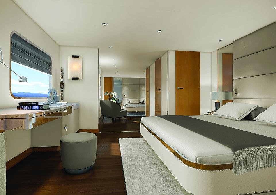 Aqua Blu Liveaboard Modern Master Bedroom | Hello Flores