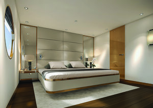 Aqua Blu liveaboard provides an elegant main bedroom | Hello Flores