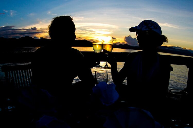 Watch as the sun goes down aboard the Damai I liveaboard | Hello Flores