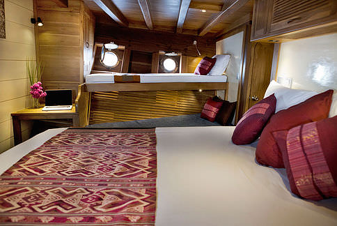 Mantra Liveaboard Cozy Bed Cabin | Hello Flores