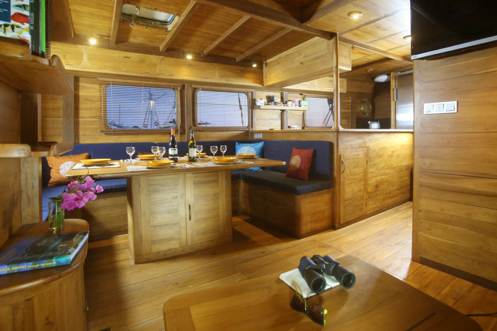 Mantra Liveaboard Absolute Lounge in Wood | Hello Flores
