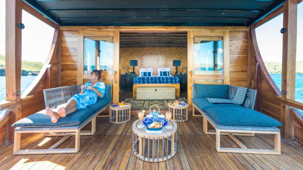 Ocean Pure Liveaboard Cozy Balcony Deck | Hello Flores