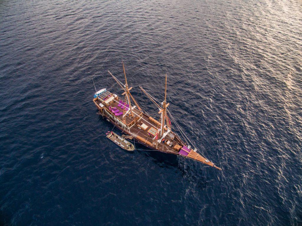 Carpe Diem Liveaboard Aerial View | Hello Flores