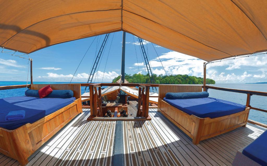 Damai Liveaboard Fantastic Exterior Deck | Hello Flores