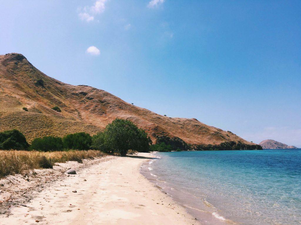The beautiful beach on Komodo island