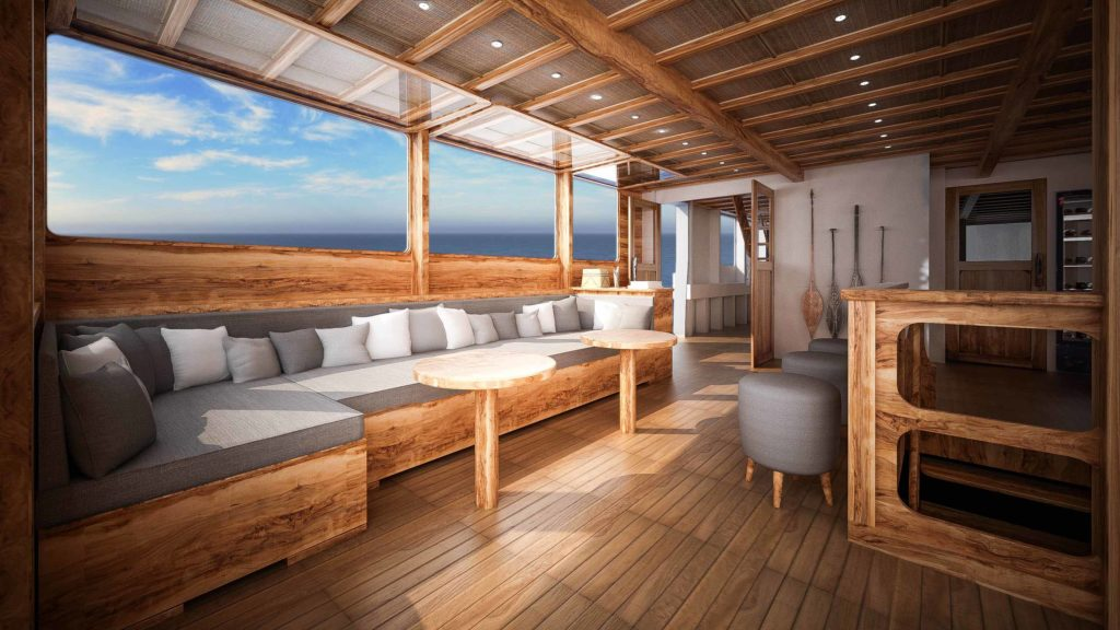 Lounge Aliikai liveaboard to enjoy your day | Hello Flores