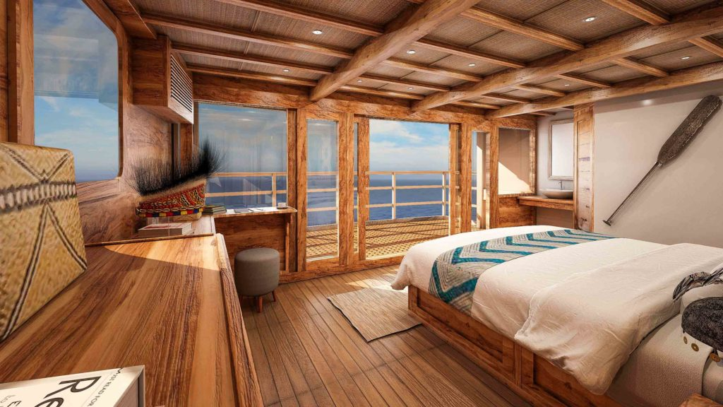 Incredible view of master cabin Aliikai liveaboard | Hello Flores