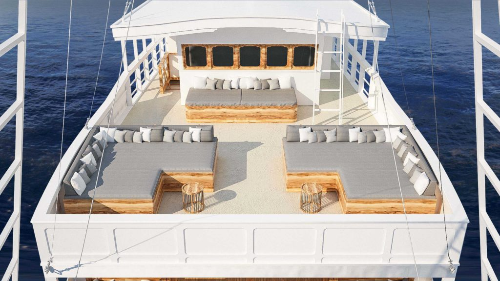 A comfort sun deck of Aliikai liveaboard | Hello Flores