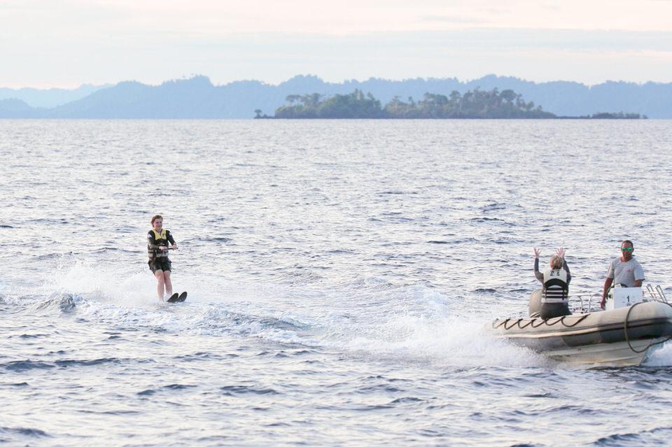 Mutiara Laut Liveaboard Waterskiing | Hello Flores