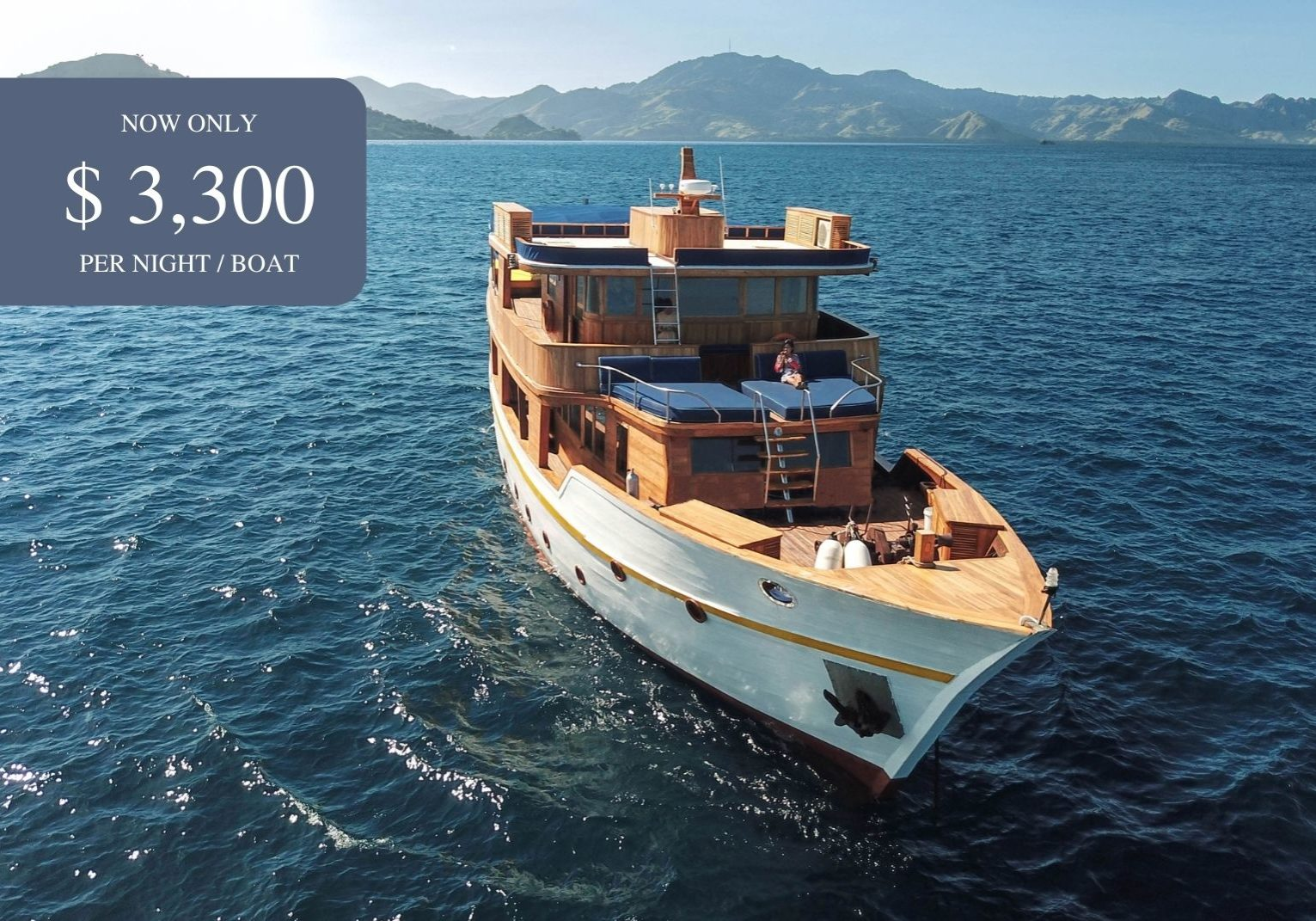 Magia 2 yacht | Now only $3300 per night | Hello Flores